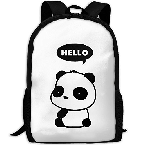 Most Durable Lightweight Brand New Travel Laptop Backpack - Cute Panda Hello Thought Bubble by USYOYOGA
