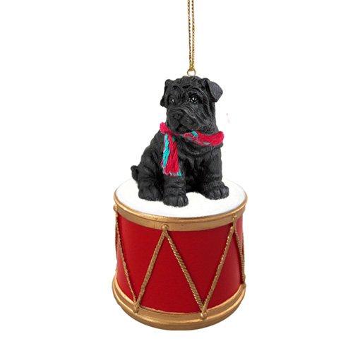 (Little Drummer Shar Pei Black Christmas Ornament - Hand Painted - Delightful)