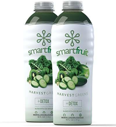 Smartfruit Harvest Greens, 100% Real Fruit Smoothie Mix, No Added Sugar, Non-GMO, No Additives, Vegan, Family Pack 48 Fl. Oz (Pack of 2)