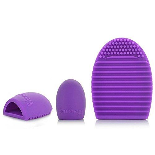 MyBeautyworld24 Silikon Pinselreiniger Pinsel-Reinigung Make-Up Reiniger Reinigungsbürste in lila