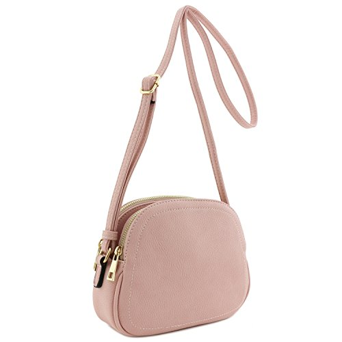 Double Zip Half Moon Crossbody Bag Dusty (Dusty Bag)