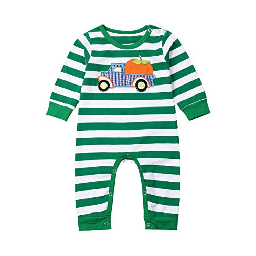 Baby Girls Boys Halloween/Christmas Outfits Stripe Pumpkin/Santa