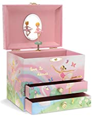 Jewelkeeper Musical Jewelry Box with 2 Pullout Drawers