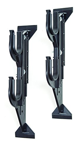 Allen Company Molded Gun Rack for Trucks - Holds Two Shotguns, Rifles, Bows, or Tools - (9 - 13 inches Height), Black