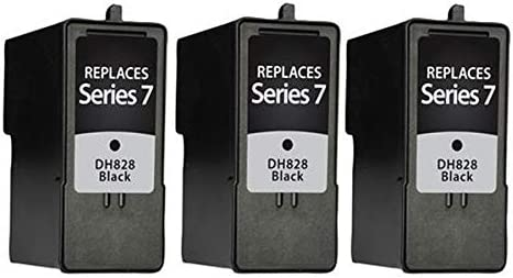3BK968N SuppliesMAX Compatible Replacement for Dell 966//968//968W Black Inkjet 3//PK Series 7