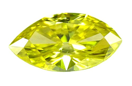 0.94 ct Fancy Vivid Yellow loose Natural diamond VS2 Marquise Cut GIA certified HPHT (Diamonds Vs2 Marquise Loose)
