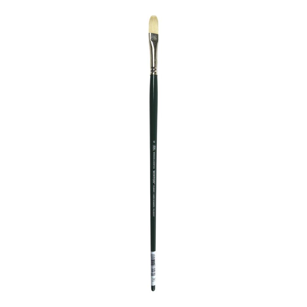 Winsor & Newton Winton Hog Brushes 6 filbert, Natural