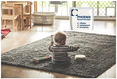 Phoenix Limpiador enzimático, eliminador de orina de gato, 1 bolsa de sellado de 20 g, eliminador de olores=1,0-1,5 litros, 100% biodegradable