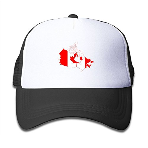 wholesale Futong Huaxia Flag Map Of Canada Boy & Girl Grid Baseball Caps Adjustable sunshade Hat For Children free shipping
