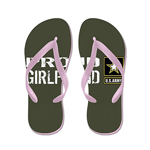 CafePress U.S. Army: Proud Girlfriend (Military G - Flip Flops, Funny Thong Sandals, Beach Sandals Pink