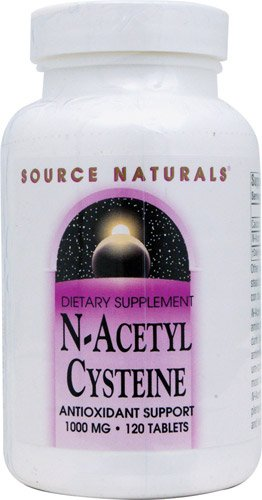 Source Naturals N-Acetyl Cysteine -- 1000 mg - 120 Tablets - 2PC