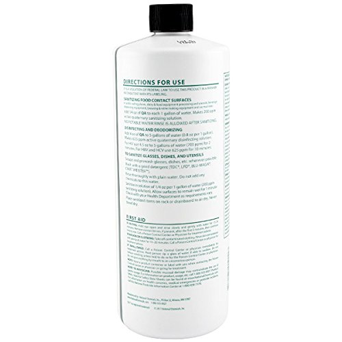 QA Concentrated Sanitizing Solution - Surface Cleaner by National Chemicals