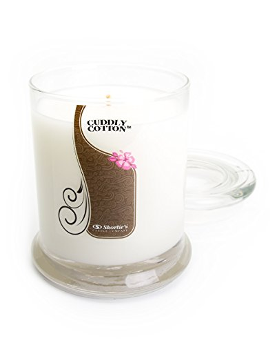 Cuddly Cotton Candle - 10 Oz. Highly Scented White Jar Candle - Clean Candles Collection