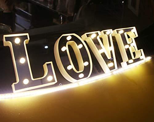 Amazon.com: KuChuang - Letras LED plateadas con 26 letras ...