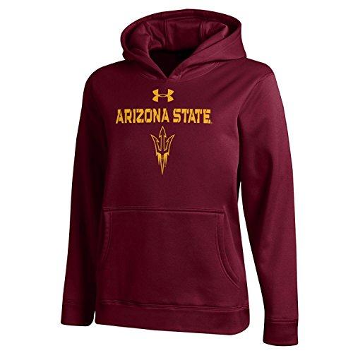 NCAA Arizona State Sun Devils Boys Fleece Hood, Small, Maroon