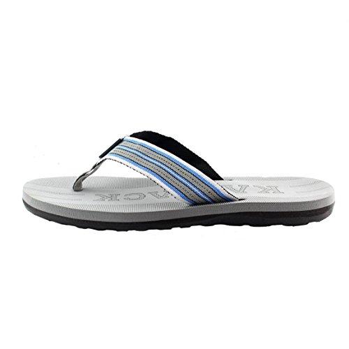 Kaiback Heren Beachcomber Sandaal Grijs / Blauw