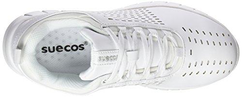Suecos® Bil, Zapatos de Trabajo Unisex Adulto Blanco (White)