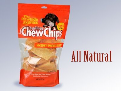 - The Rawhide Express Beefhide Chew Chips Hickory Flavored 1 Pound Bag (Makes a Great Reward or Treat)