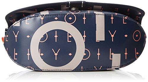 Oilily Lori Letters Shoulderbag Mhf - Borse a spalla Donna, Blu (Dark Blue), 12x24x32 cm (B x H T)