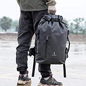 ACSH Tactical Backpack, Waterproof Outdoor Mountaineering Bag, Oxford Cloth Army Fan Tactical Backpack, Black (Color : Black)