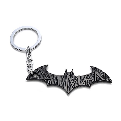 Loveboat TM & DC Comics Movie Bat Man Hero Alloy Metal Bat Dart Keychain (Black Type 2) -