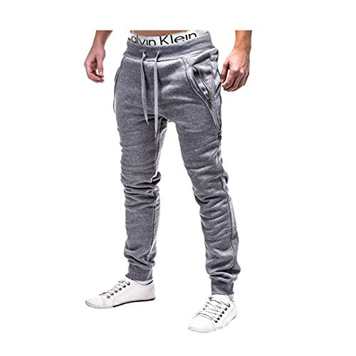 Men's Soccer Track Training Pants Athletic Sweatpants with Pockets for Gym Running Athletic(Light Gray Medium) (Aero Men Sweatpants)