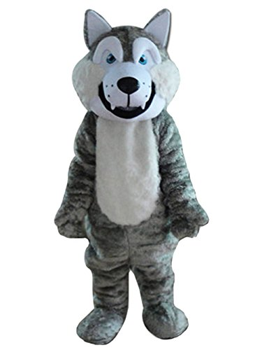 [Wolf AdultMascot Costume Wolf Cartoon Character Costume (X-Large)] (Cartoons Characters Costumes)