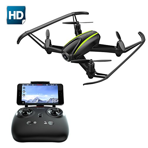 Drone with HD Camera, Potensic RC Quadcopter Drone RTF 4 Channel 2.4GHz 6-Gyro Headless System Altitude Hold Function(Black)