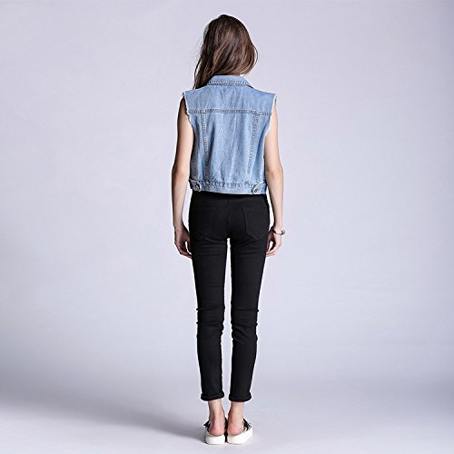 donna Jeans Zip Nero Jeans Jeans Jeans FuweiEncore estivi da skinny fori Jeans Pantaloni donna Jeans con strappati CqdwtE