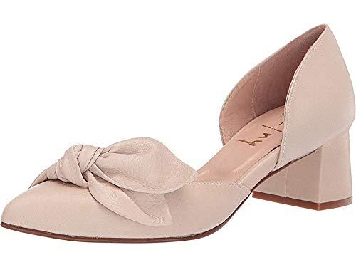 - French Sole Women's Danielle D'Orsay Bow Pump Beige Soft Calf 8 M US