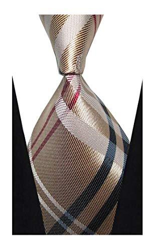 w3dayup Mens Classic Tie Necktie Woven Plaid Neck Ties for Men Stripe Neck Tie - Stripes Mens Necktie