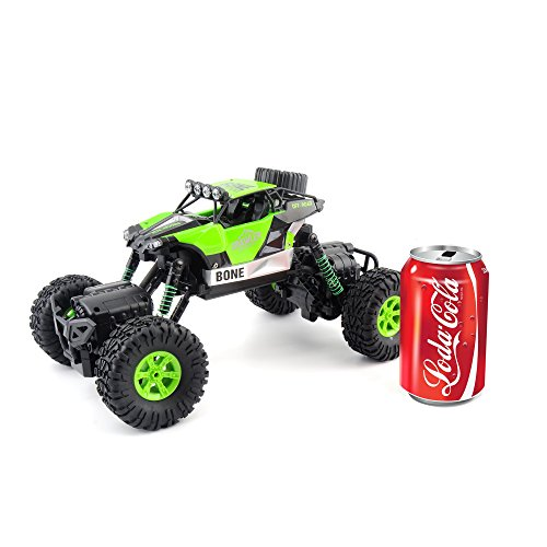Gizmovine RC Rock Crawler Car 4WD 4 Modes Steering Waterproof 2.4Ghz Radio Control Toy Monster Truck Off Road (1/16 Scale)Green ZC0005-U2 Photo #3