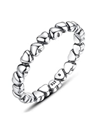 The Kiss Forever Love 925 Sterling Silver Stackable Ring