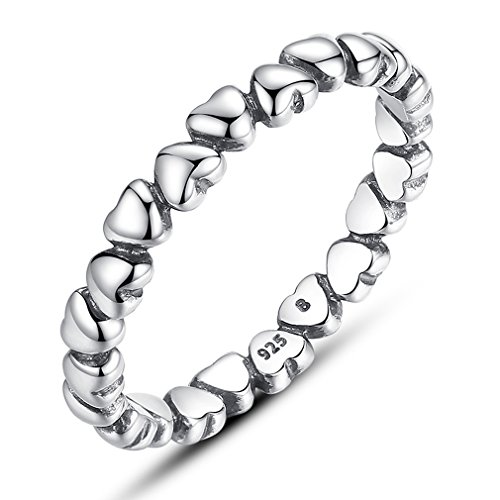 Sterling Silver Kiss - The Kiss Forever Love 925 Sterling Silver Stackable Ring