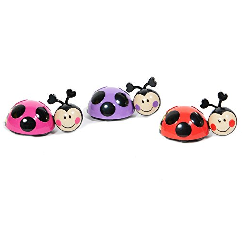 Ladybugs Cake Toppers (3 Pieces) (Pink Toppers Cupcake Ladybug)