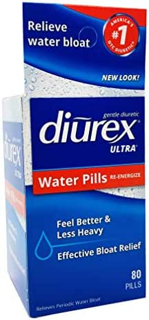 Diurex—Ultra Water Weight Loss Formula—80 Pills—Relieves Water Weight Gain, Bloating, Puffiness and Fatigue Related to Menstruation
