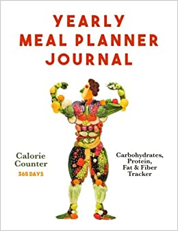 yearly meal planner journal calorie counter and carbohydrates