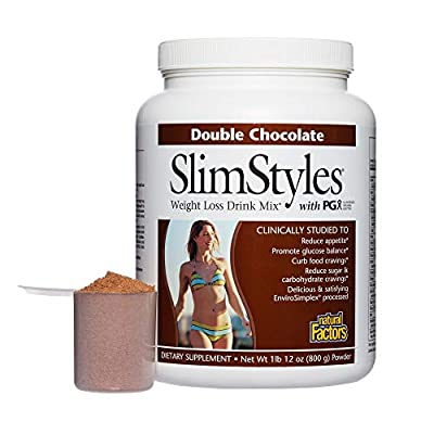 Natural Factors - SlimStyles Weight Loss Drink with PGX - Supports Appetite Control