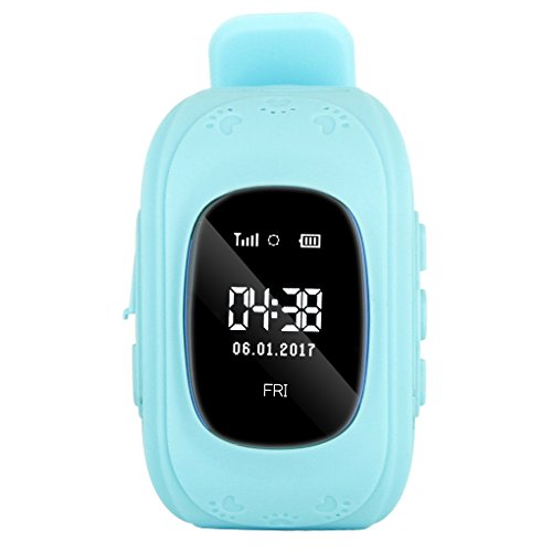 0.96 Inch LCD Light Sensor Smart Wrist Watch Anti-Lost GPS Tracker Call Remote Pedometer Smartwatch Kids Baby Q50