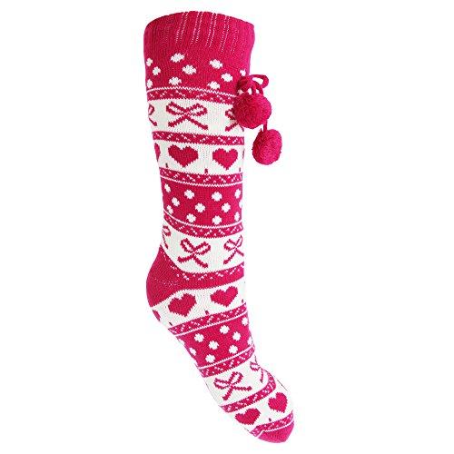 Anti Rose Chaussettes De Slumberzz dérapantes Femme Noël Aa6tnwqZ
