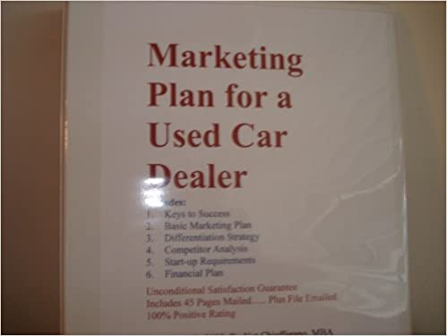 Marketing Plan for a Used Car Dealer (Fill-in-the-Blank Marketing ...