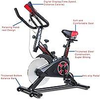 Hifeel Bicicleta estática Interior Ajustable Home Fitness Pedal estática Upright Pantalla LCD Bicicleta Upright – Bicicleta estática Indoor Ciclismo Bicicleta (Negro+Rojo): Amazon.es: Deportes y aire libre