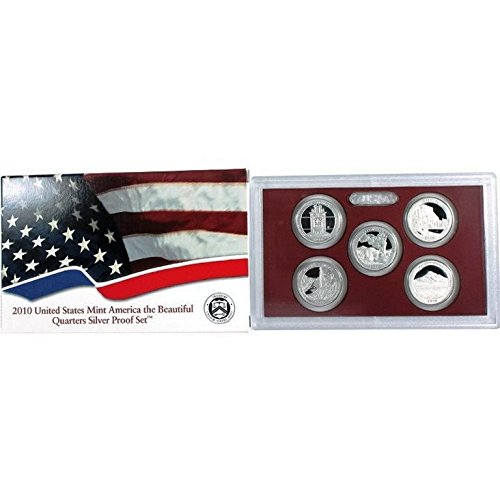 2010 S 2010 - S Silver America the Beautiful National Parks Quarters Proof Set with Box and CoA Proof (Silver Quarter Proof)