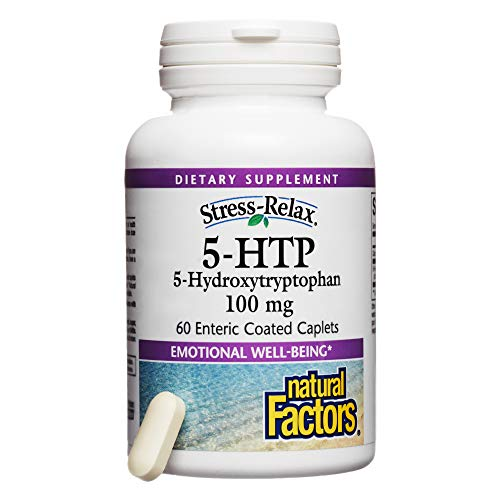 Enteric Coated 5 Htp - Natural Factors, 5-HTP 100 mg, Support for Emotional Health without Gastric Discomfort, 60 caplets (60 servings)