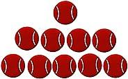 Kakalote 10pcs Tennis Racquet Dampeners Tennis Shaped Damper Tennis Shock Damping Tool Accessories