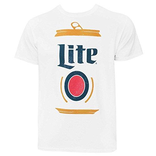 - Miller Lite Stylized Can Logo Men's Tshirt Large
