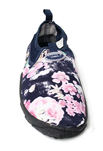 Easy Usa Womens Wave Water Shoes Rose Blu