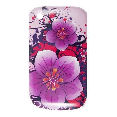 eDealMax Flor púrpura del IMD de impresión de plástico Duro caso Para BlackBerry 8520