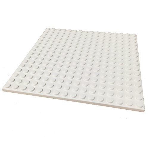 lego building plate white - 1