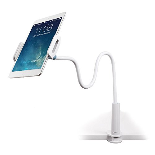 Emasun Cell Phone Holder, Universal Phone Holder Clip Lazy Bracket Flexible Gooseneck Clamp Long Arms Mount for iPhone 7/8plus/6/6s/5s/SE/5/, GPS Devices, Fit On Desktop Bed Mobile Stand for Bedroom,